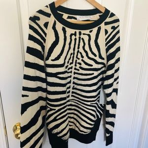 NWT A.L.C. Zebra Sweater Size Small
